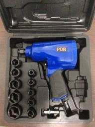 Chave de Impacto Pneumática 1/2 Pol. 7000RPM com Maleta e 14 Acessórios Pro - 134K
