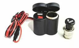 Adaptador Veicular e Tomada USB p/ Motos LE-9019 - Lelong<br>