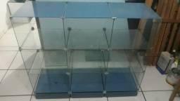 Título do anúncio: Prateleira em Vidro Moldado com 9 gavetas