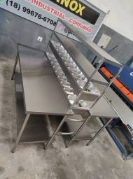 Título do anúncio: bancada de montagem para pizzaria, condimentadora