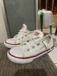 Tênis All star infantil branco 70 reais