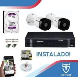 Título do anúncio: Kit com 2 Câmeras de vigilância!! Alta definição!!