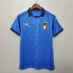 Camisa Itália I s/nº 20/21 Masculina Torcedor