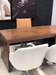 Título do anúncio: Vendo Mesa em L Semi-nova em Madeira Tamburato