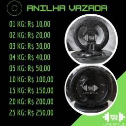 Título do anúncio: Anilha vazada - R$ 10,00/KG - Leia a descrição