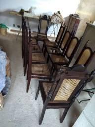 10 cadeiras Imbuia 70,00 cada
