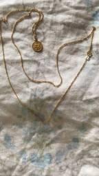 Cordao + Pingente de Ouro 18k