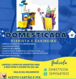 Título do anúncio: DIARISTA E FAXINEIRA