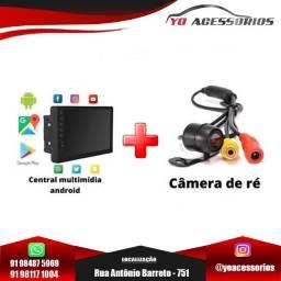 Central Multimídia Android Carplay + Câmera de ré