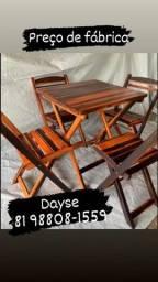 Título do anúncio: 1 mesa e 4 cadeiras para bares e restaurante