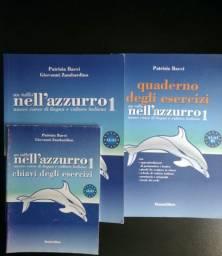 Kit Livros de Italiano Nell'azzurro 1 ( Iniciante)