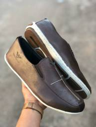 Sapato sapatilha em couro legítimo 37 ao 42