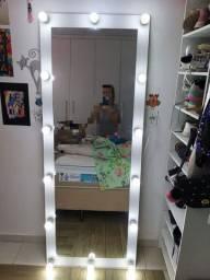 Espelho Camarim Corpo Todo Casa Salão de Beleza