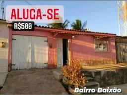 Alugo, Casa Com 2-Quartos, Bairro Baixão Arapiraca/AL