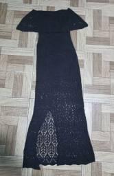 Título do anúncio: Vestido de tricô semi novo