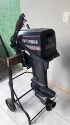 Motor de popa Evenrude ano 90, 15 HP