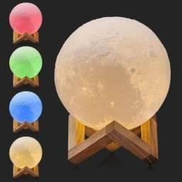Luminária lua 3d à enérgia