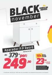 Black Friday!! Aparador Retrô Amarelo com Pés Palito