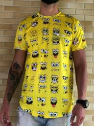 Camisa long bob esponja