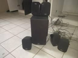 Caixas de som de home teacher