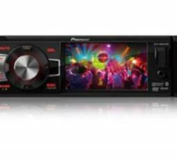 "Player Pioneer DVH-8880AVBT 1-DIN frente flip-down com tela de 3,5"" QVGA wide screen"