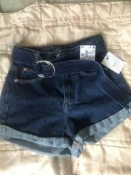 Short jeans feminino n 34