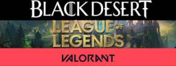 GRATUITO Game online com equipe...Black Desert, League of Legend, Valorant