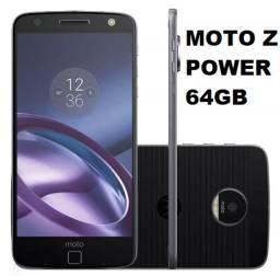 Mororola Moto Z power 64gb completo na caixa com moto snap bateria