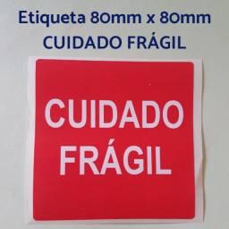Etiqueta Cuidado Frágil