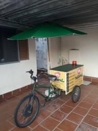 Triciclo Food Bike Completo + Motor + Iluminação + Ombrelone