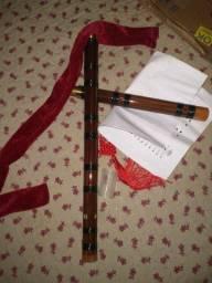 Flauta original da china de bambu transversal