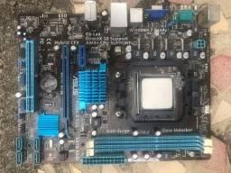 Kit Placa mãe asus m5A78l-m lx3 Socket am3+ com processador amd fx 4100 3,6Ghz