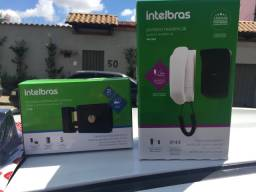 Kit fechadura + interfone intelbras novu lacrado