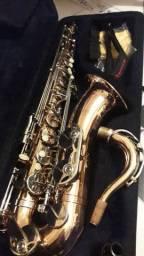 Sax tenor novinho lindo com garantia de luthier