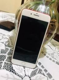 Título do anúncio: iPhone 7 Plus vermelho de 128 gigas