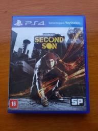Vende-se jogo infamous second son para playstation 4