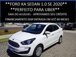 Ford Ka Sedan SE 1.0 2020 - Perfeito p/ Uber