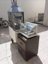 Carrinho de Espetinho + Estufa por 750,00