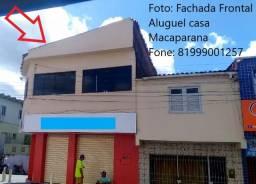 Aluga-se primeiro andar no centro de Macaparana na rua do Alecrim.