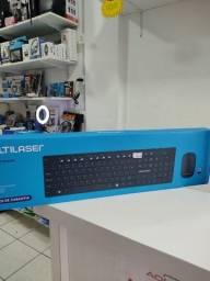 Título do anúncio: Mouse + teclado sem fio usb para notebok Multilaser