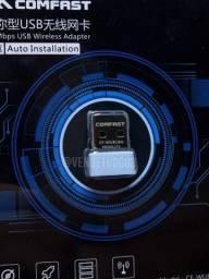 Título do anúncio: Adaptador wi-fi usb 150m Comfast plug and play para PC e notebook