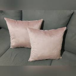 Almofadas em Veludo - Rosa Nude