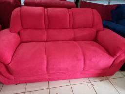 Sofa novo vermelho 3 lugares