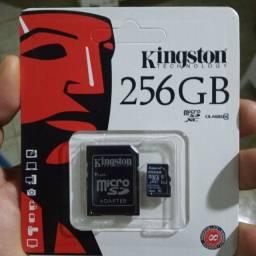 Cartão de memória kingston 256gb com adaptador