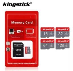 Cartão de memória com adaptador marca Kingstick