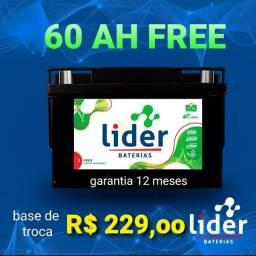 Título do anúncio: Bateria 60 ah free Líder (selada)