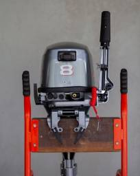 Título do anúncio: Motor de popa Hidea semi-novo 8 HP