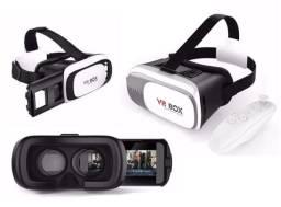 Óculos 3D com Controle Bluetooth para Filmes Jogos Game de Realidade Virtual (Vr Box))