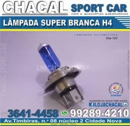 Título do anúncio: Lampada Super Branca H4 (produtos novos e com nota fiscal) lampada para o farol