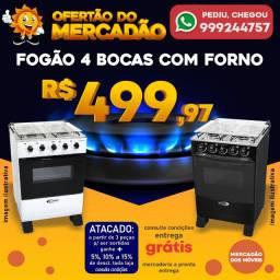 Fogão 4 Bocas Com Forno Super Barato e Entrega Grátis!!!